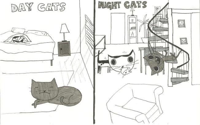 Day Cat...ahh ahhh ahhhhh, fighter of the night cat....ahh ahhh ahhhhh, champion of the nap....