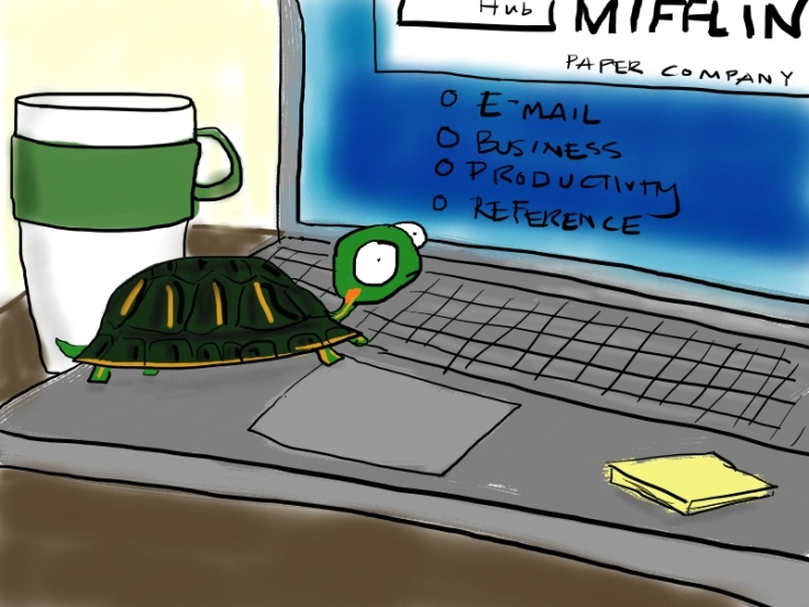 Rocket the turtle is very productive.